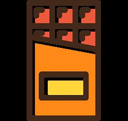 envasado de chocolate